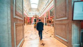 Grande sala italiana da claraboia no eremitério do estado filme
