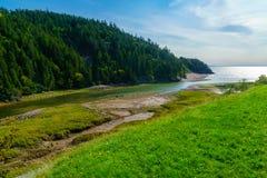 Grande Salmon River, in strada panoramica della traccia di Fundy immagini stock