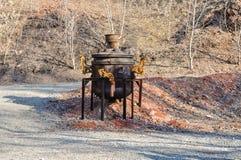 Grande samovar oxidado Imagem de Stock Royalty Free