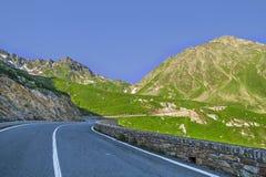 Grande san Bernard Pass, strada antica lungo la valle d'Aosta fotografia stock