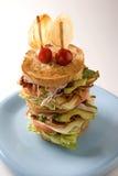 Grande sanduíche de clube Imagens de Stock