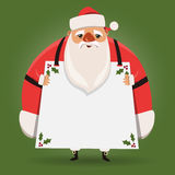 Grande Santa Claus grassa Fotografia Stock Libera da Diritti