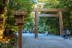 Grande santuario di Ise Jingu NaikuIse - santuario interno in Ise City, Mie Prefecture Fotografia Stock Libera da Diritti