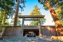 Grande santuario di Ise Jingu NaikuIse - santuario interno in Ise City, Mie Prefecture Fotografie Stock