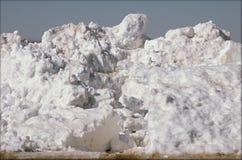 Grande scène de paquet de neige Images libres de droits