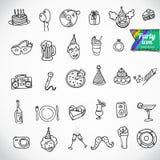 Grande scarabocchio fissato - festa Illustrazione di Stock