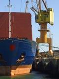 Grande scarico della nave Fotografia Stock Libera da Diritti