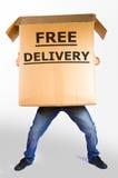 Grande scatola di consegna gratuita Fotografia Stock Libera da Diritti
