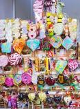 Grande scelta della caramella variopinta di cioccolato e del caramello Fotografie Stock