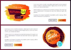 Grande scelta 2017 di Autumn Sale Best Offer Discounts Immagine Stock