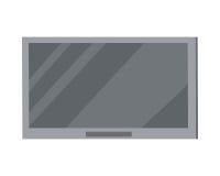Grande schermo del plasma del LED TV isolato su bianco Fotografie Stock Libere da Diritti