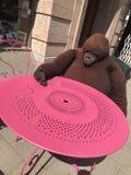Grande scimmia del giocattolo fotografie stock libere da diritti