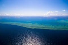 Grande scogliera di barriera dal cielo Fotografie Stock Libere da Diritti
