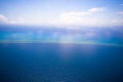 Grande scogliera di barriera dal cielo fotografia stock