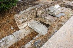 Grande scolo in agora, Atene immagini stock libere da diritti