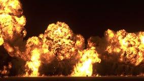 Grande scoppio di bomba video d archivio