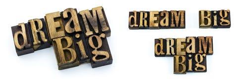 Grande scritto tipografico di sogno delle lettere Fotografie Stock