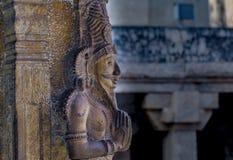 Grande sculpture en temple de Tanjore photos libres de droits