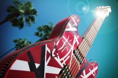 Grande scultura agli studi universali, Hollywood, Los Angeles della chitarra Immagine Stock
