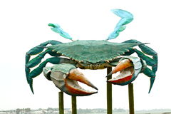 Grande scultura del granchio del metallo Fotografia Stock Libera da Diritti