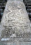 Grande scultura di pietra sul territorio del tempio del cielo Immagini Stock Libere da Diritti