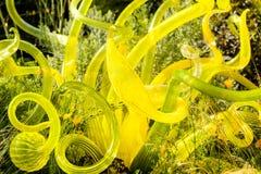 Grande scultura di vetro Fotografie Stock