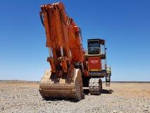 Grande secchio enorme dello zappatore della pala dell'escavatore di estrazione mineraria Immagine Stock Libera da Diritti