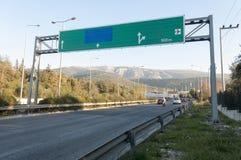 Grande segnale stradale della strada principale Immagine Stock Libera da Diritti