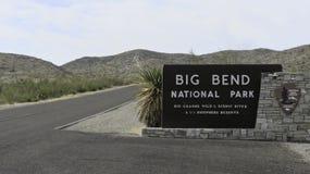 Grande segno del parco nazionale della curvatura immagine stock