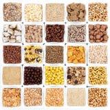 Grande selezione del cereale da prima colazione Fotografia Stock Libera da Diritti