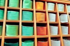 Grande selezione delle cravatte Fotografia Stock