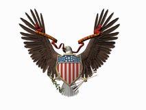 Grande selo americano, unum do pluribus de E. Foto de Stock