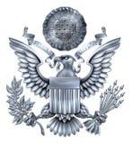 Grande selo da prata do Estados Unidos Foto de Stock