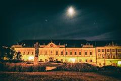 Grande seminário, quadrado de Pribina, Nitra, filtro análogo foto de stock
