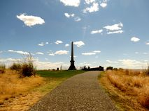 Grande sepultura em Whitman Mission National Historic Site Foto de Stock Royalty Free