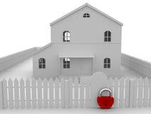 Grande serratura rossa Immagini Stock