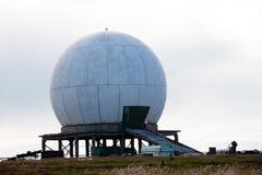 Grande sfera di bianco dell'antenna Immagini Stock