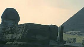 Grande Sfinge di Giza archivistica stock footage