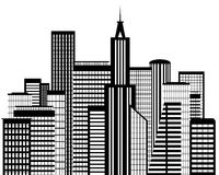 Grande silhouette de ville Photo libre de droits