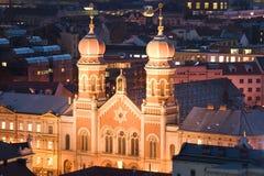 A grande sinagoga em Pilsen fotografia de stock