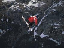Grande snowboard dell'aria Fotografie Stock