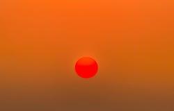 Grande sole rosso Immagini Stock