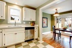 Grande soluzione di colore per progettazione della stanza della cucina Fotografie Stock