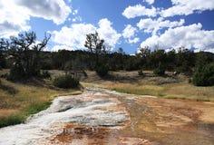Grande sorgente di acqua calda prismatica immagini stock