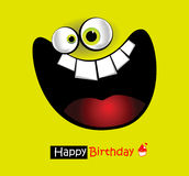 Grande sorriso del biglietto di auguri per il compleanno felice Fotografie Stock