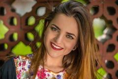 Grande sorriso ed occhi luminosi Fotografie Stock Libere da Diritti