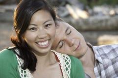 Grande sorriso sulla giovane ragazza cinese Fotografia Stock Libera da Diritti