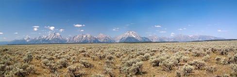 Grande sosta di Teton, una vista panoramica fotografia stock libera da diritti