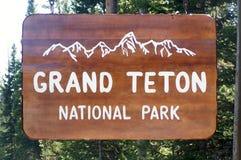 Grande sosta nazionale di Teton fotografie stock libere da diritti