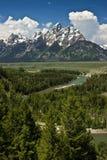 Grande sosta nazionale di Teton - S.U.A. Fotografie Stock Libere da Diritti